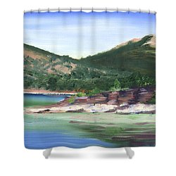 Osprey Island Flaming Gorge Shower Curtain