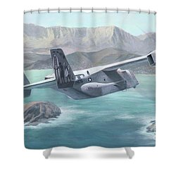 Osprey Over The Mokes Shower Curtain