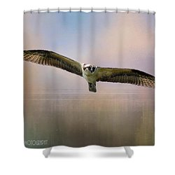 Osprey Over The Shenandoah Shower Curtain by Kathy Russell