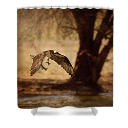 Osprey With Lunch Shower Curtain