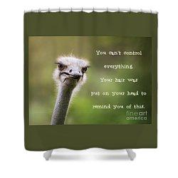 Ostrich Having A Bad Hair Day Shower Curtain