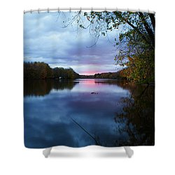 Oswego River Shower Curtain