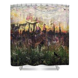 Other World 2 Shower Curtain by Ron Richard Baviello