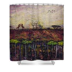 Other World 4 Shower Curtain by Ron Richard Baviello