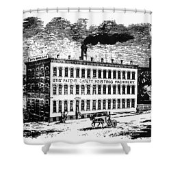 Otis Elevator Factory Shower Curtain by Granger