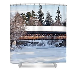 Shower Curtain featuring the photograph Ottaquechee Middle Bridge by Susan Cole Kelly