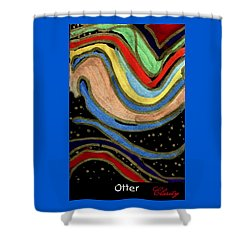 Shower Curtain featuring the painting Otter by Clarity Artists