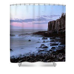 Otter Cliff Awash Shower Curtain