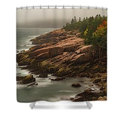 Shower Curtain featuring the photograph Otter Cliffs by Gary Lengyel