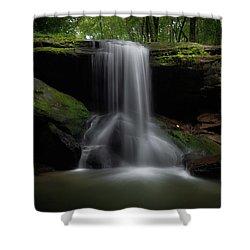 Otter Falls - Seven Devils, North Carolina Shower Curtain
