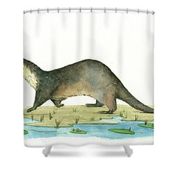 Otter Shower Curtain Juan Bosco
