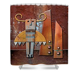 Otto The God Of October Shower Curtain by Joan Ladendorf