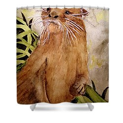 Otto The River Otter Shower Curtain