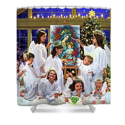 Our 2017 Christmas Angels Shower Curtain