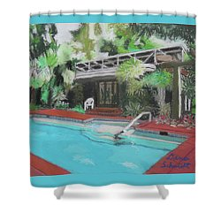 Our Back Yard In Orlando Shower Curtain