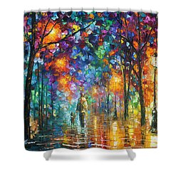 Our Best Friend  Shower Curtain by Leonid Afremov