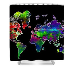 Our Colorful World Shower Curtain by Randi Grace Nilsberg