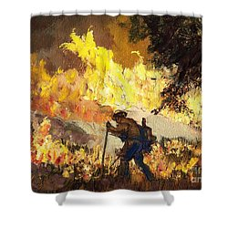 Our Heroes Tonight Shower Curtain by Randy Sprout