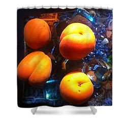 Our Juicy Apricots Shower Curtain