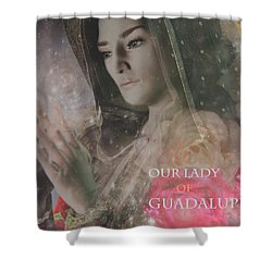 Shower Curtain featuring the painting Our Lady 2 by Suzanne Silvir