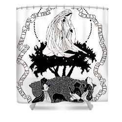 Our Lady Of Fatima - Dpolf Shower Curtain