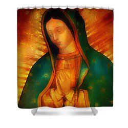 Our Lady Of Guadalupe Shower Curtain by Bill Cannon
