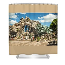 Our Lady Of Lourdes Grotto Shower Curtain