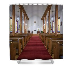 Our Lady Of Mount Carmel Shower Curtain by Andy Crawford