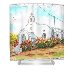Our Lady Of Mount Carmel Catholic Church, Carmel,california Shower Curtain