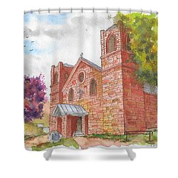 Our Lady Of Sorrow Catholic Church, Las Vegas, New Mexico Shower Curtain