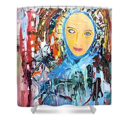 Our Lady Of The Left Eye Shower Curtain