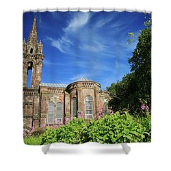 Our Lady Of Victories Shower Curtain by Gaspar Avila