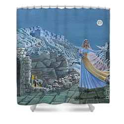 Our Lady Queen Of Peace Shower Curtain