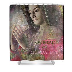 Shower Curtain featuring the painting Our Lady by Suzanne Silvir