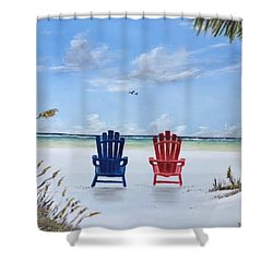 Our Spot On Siesta Key Shower Curtain
