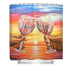 Our Sunset Shower Curtain