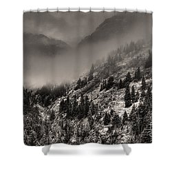 Ouray In Chinese Brush IIi Shower Curtain by William Fields