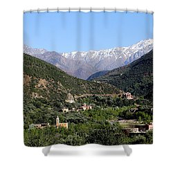 Shower Curtain featuring the photograph Ourika Valley 2 by Andrew Fare