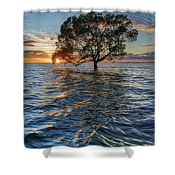 Out At Sea Shower Curtain
