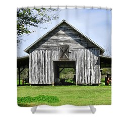 Out By The Barn Shower Curtain by Laura Ragland