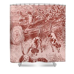 Out Foxing Shower Curtain