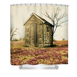 Shower Curtain featuring the photograph Outhouse by Julie Hamilton
