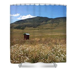Shower Curtain featuring the photograph Out House by Mary-Lee Sanders