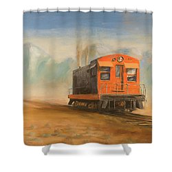Out Near Smoke Creek Shower Curtain by Christopher Jenkins