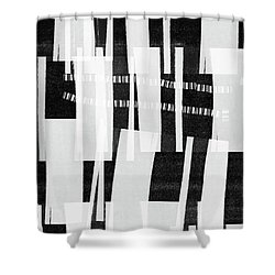 Shower Curtain featuring the mixed media Out Of Bounds- Art By Linda Woods by Linda Woods
