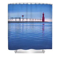 Shower Curtain featuring the photograph Out Of The Blue by Bill Pevlor
