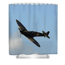 Out Of The Blue Shower Curtain by Hazy Apple