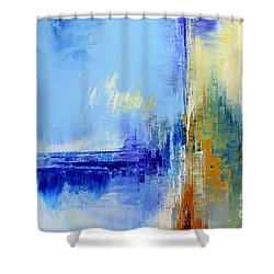 Out Of The Blue Shower Curtain by Tatiana Iliina