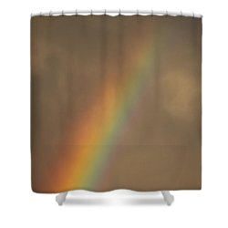 Shower Curtain featuring the photograph Out Of The Clouds by Cathie Douglas