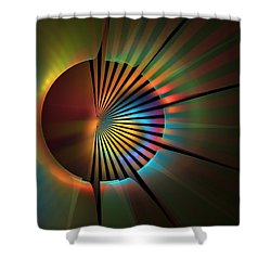 Out Of The Corner Of My Eye Shower Curtain by Lyle Hatch